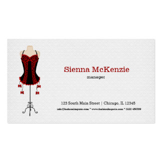 Fashion Lingerie (red) Business Card Template