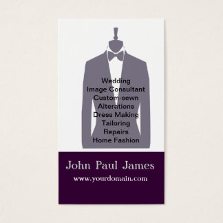 Fashion Mens Tux Gray Mannequin  Stylist Business Card