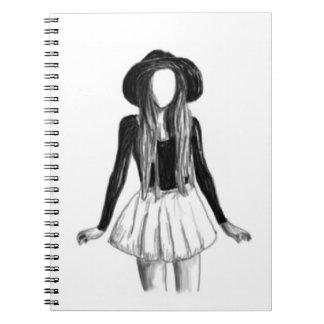 Fashion model design spiral note book