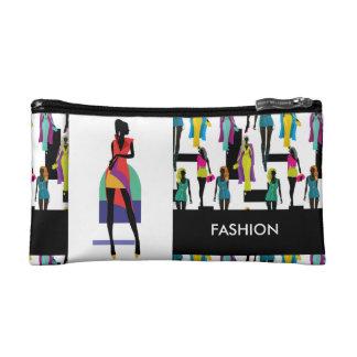 Fashion modern stylish trendy illustration pattern cosmetic bag