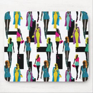 Fashion modern stylish trendy illustration pattern mouse pad