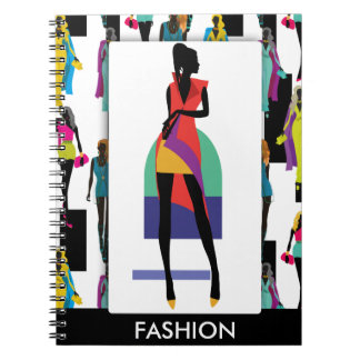 Fashion modern stylish trendy illustration pattern notebook