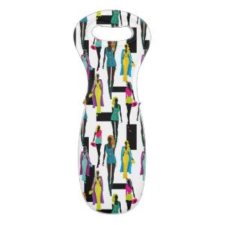 Fashion modern stylish trendy illustration pattern wine bag