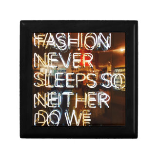 Fashion never sleeps so neither do we ! gift box