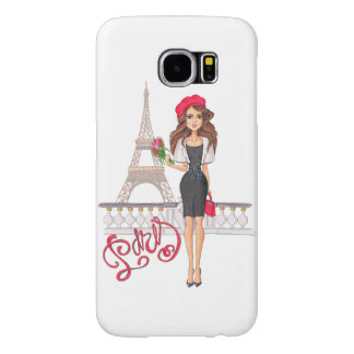 Fashion Paris Girl Hand Painted Samsung Galaxy S6 Cases