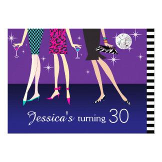 Fashion Party Girls 30th Birthday Invites