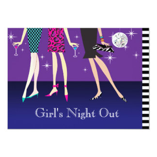 Fashion Party Girls Night Out 13 Cm X 18 Cm Invitation Card