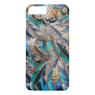 Fashion pattern with blue feathers. Trendy design iPhone 8 Plus/7 Plus Case