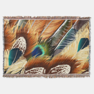 Fashion pattern with feathers. Trendy design Throw Blanket