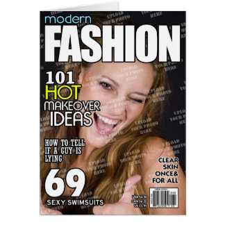 Fashion Personalised Magazine Cover Card