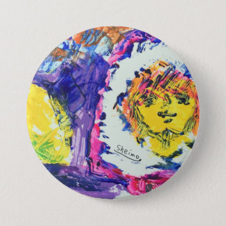 Fashion picture karoro and lemon 7.5 cm round badge