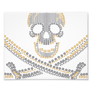 fashion pirate skull gold diamond and pearls photographic print