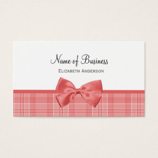 Fashion Plaid Pattern With Cayenne Pink Bow