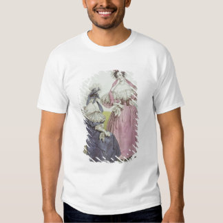 Fashion plate, 'Le Follet Courrier Salons Tee Shirts