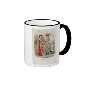 Fashion plate showing hats and dresses ringer mug