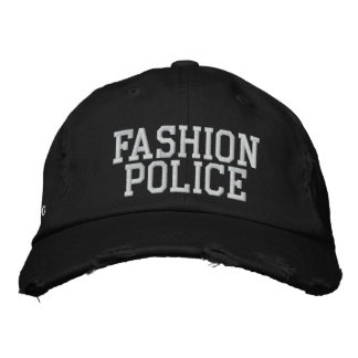 Fashion Police Embroidered Hat