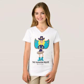 Fashion Police Fairy Angel Blue Blonde Bombshell T-Shirt