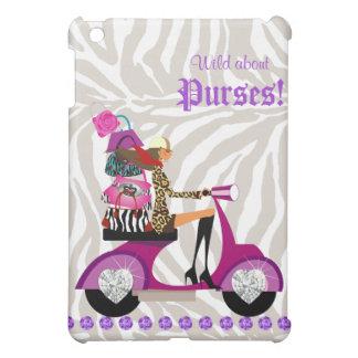 Fashion Purse Handbag Zebra iPad Cover purple