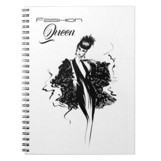 Fashion Queen Fashionillustration Notebook