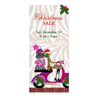 Fashion Rack Card Scooter Woman Xmas Purse