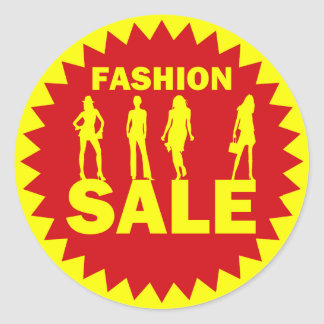 Fashion Sale Retail Label Stickers
