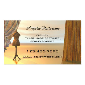 Fashion Sewing Classes Business Card