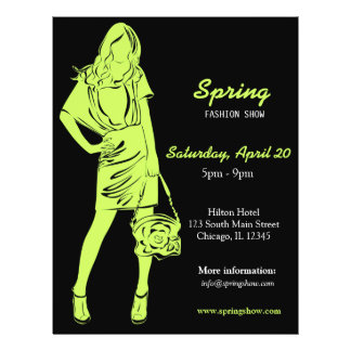 Fashion Show (Dark Olive Green) 21.5 Cm X 28 Cm Flyer
