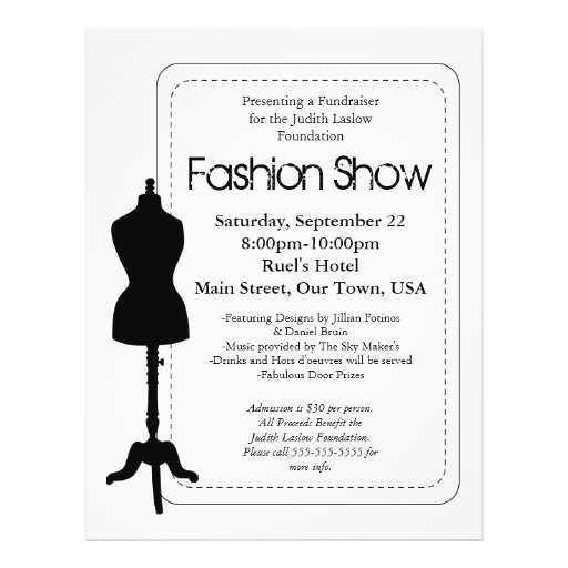 Fashion Show Flyer Design : Zazzle