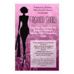 Fashion Show Flyer, Pink Silhouette Swirl