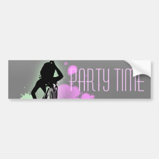 Fashion silhouette Bachelorette Party Invitation Car Bumper Sticker