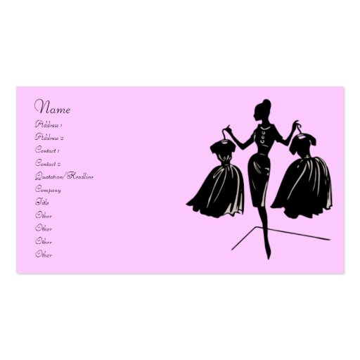 Fashion Silhouette Business Card Template
