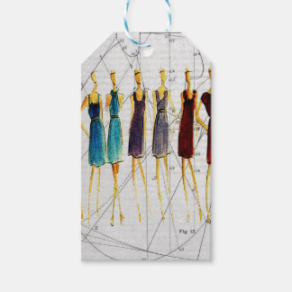 Fashion sketch gift tags