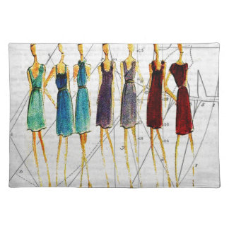Fashion sketch placemat