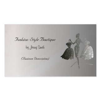 Fashion Style Boutique Pack Of Standard Business Cards