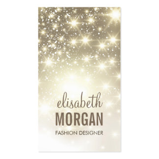 Fashion Stylish - Shiny Sparkles with Gold Glitter Pack Of Standard Business Cards
