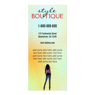 Fashion Stylist Boutique Retail Rack Card Template Personalized Rack Card