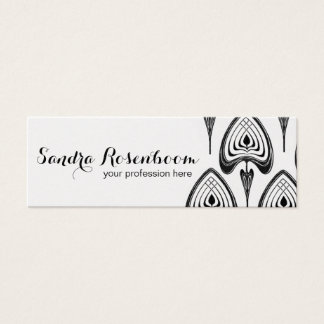 Fashion Stylist Designer art nouveau pattern Mini Business Card