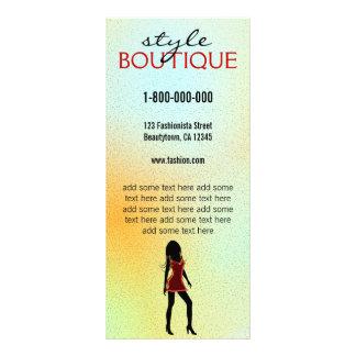 Fashion Stylist Rack Card Template Customized Rack Card