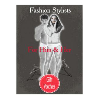Fashion Stylists Gift Voucher 17 Cm X 22 Cm Invitation Card