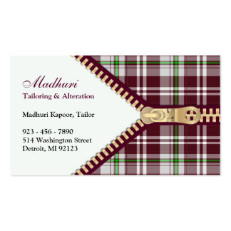 Fashion Tailoring Business Card