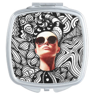 Fashion Tangle Square Compact Mirror