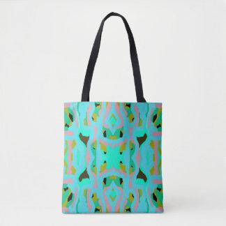 Fashion Tote Bag - Turquoise,Pink,Green,Black