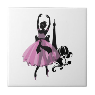 Fashion vintage stylish illustration. Ballerina Tile