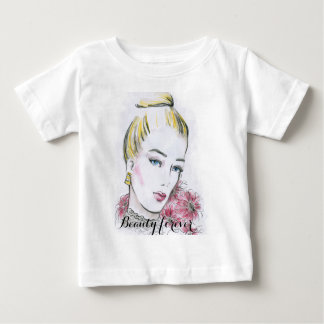 Fashion wedding watercolor illustration baby T-Shirt