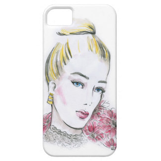 Fashion wedding watercolor illustration barely there iPhone 5 case