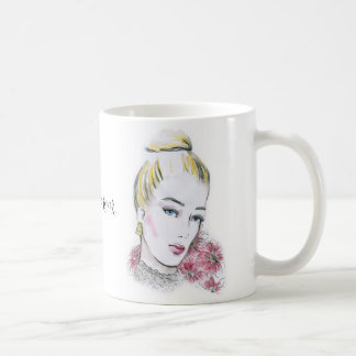 Fashion wedding watercolor illustration coffee mug