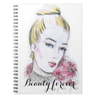 Fashion wedding watercolor illustration notebooks