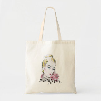 Fashion wedding watercolor illustration tote bag
