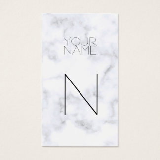 Fashion White Marble Pattern Business Card