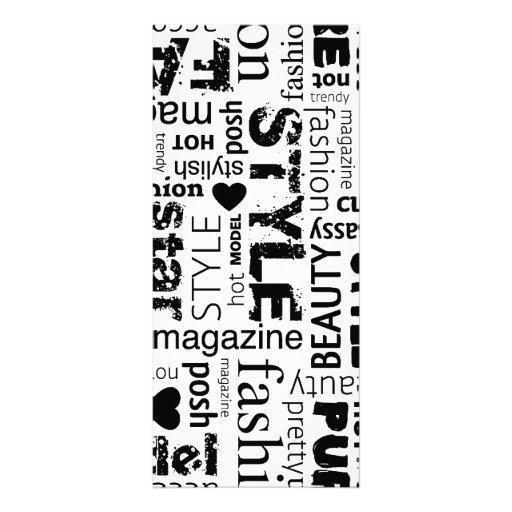 Fashion Word Collage Vector Illustration - alt Rack Cards